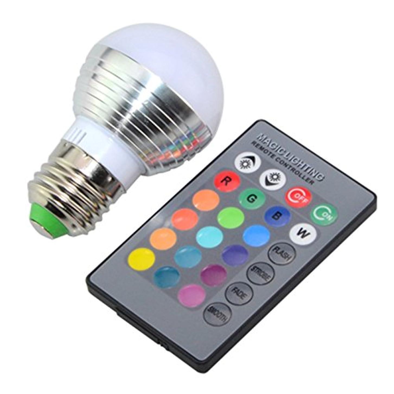 説教するジーンズ悲劇的なZehui色変更電球3 W LED電球赤外線リモートコントロールChangeable Coloursクリスマスハロウィンパーティーウェディングデコレーション E27 mhy-1012-Zjj131