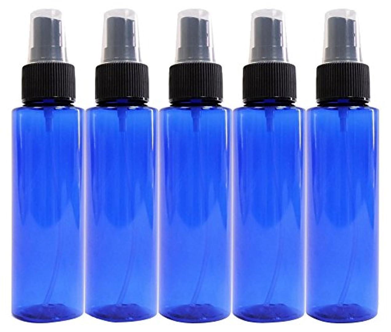 議会香り失礼なease 保存容器 スプレータイプ プラスチック 青色 100ml×5本