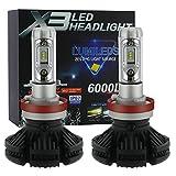 zodoo LEDヘッドライト H8/H11/H16 フィリップス ZES2チップ 変色可能 2個セット 保証1年 ZX3-H8