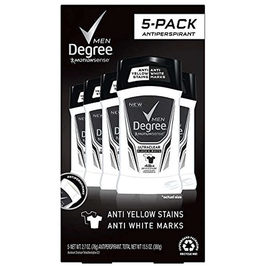 スタウト頭申し立てDegree Men Ultra Clear Black + White Solid Deodorant 2.7oz (76g), 5-pack [並行輸入品]