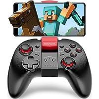 Android Bluetooth スマホ コントローラー BEBONCOOL TELEC認証 Minecraft 対応 Android ゲーム コントローラー 連射機能搭載 Bluetooth ゲームパッド