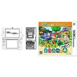 【Amazon.co.jp限定】 【液晶保護フィルムEX付き (気泡軽減タイプ) (任天堂ライセンス商品) 】New ニンテンドー3DS LL パールホワイト + とびだせ どうぶつの森 amiibo+ (「『とびだせ どうぶつの森 amiibo+』 amiiboカード」1枚 同梱) - 3DS セット