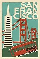 サンフランシスコ、カリフォルニア–Woodblock 12 x 18 Art Print LANT-47249-12x18