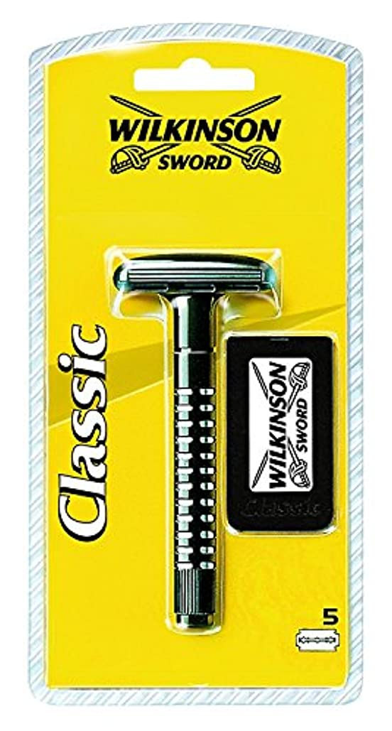 ログ安全でないびっくりするWilkinson Sword (ウィルキンソン ソード) クラシック両刃ホルダー ブレード5枚付き [並行輸入品]