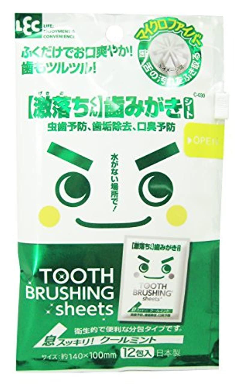ドロー櫛道徳【激落ちくん】歯みがきシート 12包
