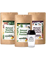 Natural Healthy Standard. 選べるスムージー3袋セット マンゴー はちみつレモン アサイーバナナ 160g×3袋