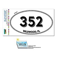 352 - 野生の木, FL - フロリダ州 - 楕円形市外局番ステッカー