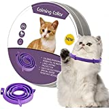 Calming Collar for Cats, Adjustable Reduce Relieve Anxiety Pheromone Keep Pet Lasting Natural Calm, Safe and Waterproof Calm