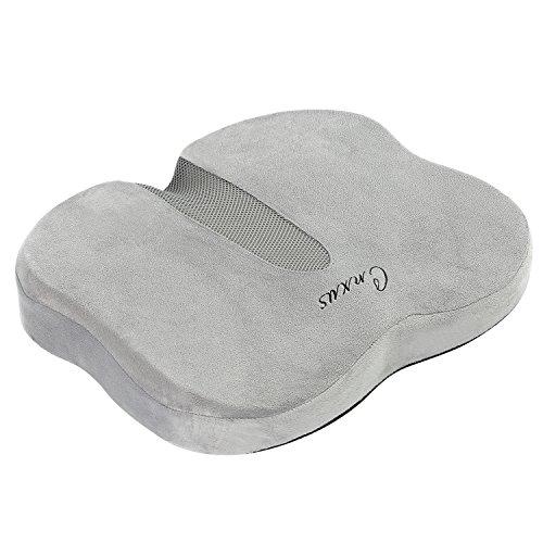 低反発クッション 腰痛クッション CNXUS 座布団 骨盤サポート 健康クッション 自宅用 オフィス 椅子用 車用 座り心地抜群 通気性