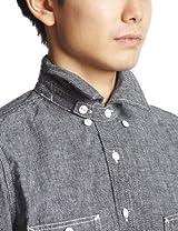 Organic Chambray Work Shirt 3211-199-1385: Black