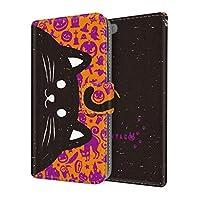 NYAGO 手帳型 docomo AQUOS R SH-03J イラスト 猫 しっぽ ハロウィン ver 2153-77 スマホケース 全機種対応 薄型 軽量 ストラップホール