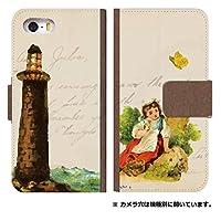 スマホケース 手帳型 iPhone8Plus ケース 8061-D. 少女と塔 iPhone8Plus ケース 手帳 [iPhone8Plus] アイフォンエイトプラス