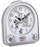セイコー クロック 目覚まし時計 ミッキーマウス アナログ 切替式 アラーム ミッキー&フレンズ Disney Time ディズニータイム 銀色 FD464S SEIKO