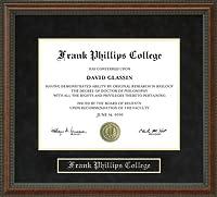 フランク・大学卒業証書Phillipsフレーム tx-phillips-91-burl
