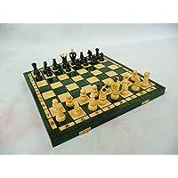 Medium Royal、木製チェスセット、グリーン色