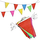 Novelty Place 260 Feet Pennant Banner - 200 Multicolor Bunting Flags - Birthday Party Grand Opening Christmas Decorations [並行輸入品]