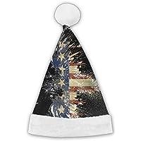サンタhat-クリスマス帽子コスチュームクリスマスパーティー用Plushサンタクロース帽子 S ブラック vnjfk55-22018789