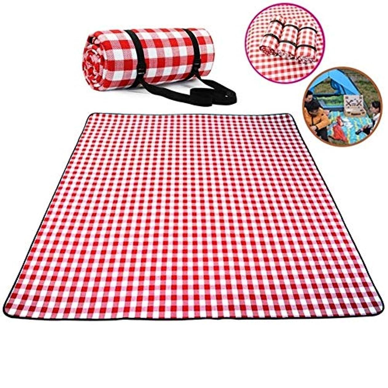 ヒゲ松明定義屋外のキャンプ用のビーチチェック柄ピクニックマットのための厚手のパッド通気性ソフトブランケット w0g3f4c