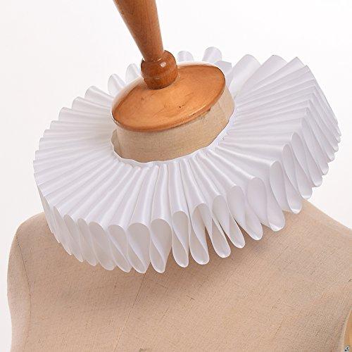 『BLESSUME ハロウィン ルネサンス 貴族 ヨーロッパ 中世 古代 衣装 コスチューム コスプレ 光沢のある 襟 (白)』の3枚目の画像