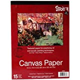 "Darice Canvas Paper Tablet (15 Sheets) – 9""x12"" Textured Paper to Practice Oil and Acrylic Painting Techniques – Acid-Free, H"