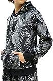 (マルカワジーンズパワージーンズバリュー) Marukawa JEANS POWER JEANS VALUE 上下セット メンズ セットアップ トレーニングウェア 花柄 ボタニカル L ブラック2