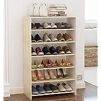 靴のラックマルチレイヤーソリッドシンプルな近代的な経済タイプソリッドウッドシンプルな家庭用靴のベンチ (色 : A)
