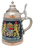 ドイツBayern Coat of Arms刻印ビールジョッキ装飾金属蓋