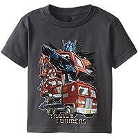 Transformers Little Boys' Optimus Transforming Short Sleeve T-Shirt