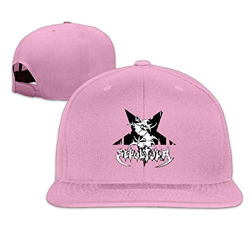 ZMONO 恋人用 ベースボールキャップ セパルトゥラ バンド 骨 スター ロゴ 今季最新 無地 オールシーズン対応 野球用 平らつば 帽子 Pink