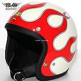 TT&CO. スーパーマグナム W.G. ファイヤー スモールジェットヘルメット SG/DOT規格 アイボリー