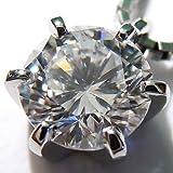 [Queen] プラチナ(Pt900) ダイヤモンド ネックレス (0.5ct以上/1粒石/6本爪/プラチナ/一粒ダイヤ)