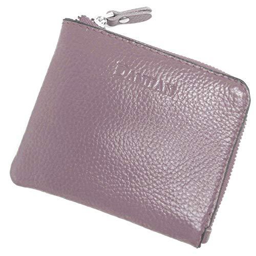 7895e52e8012 [MIKA&MAYA] ミニ 財布 レディース コンパクト 小さい 本革 コインケース 小銭 薄い (パープル