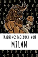 Trainingstagebuch von Milan: Personalisierter Tagesplaner fuer dein Fitness- und Krafttraining im Fitnessstudio oder Zuhause