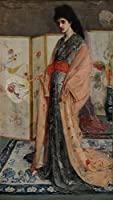 James Abbott McNeill Whistler ジクレープリント キャンバス 印刷 複製画 絵画 ポスター(The Princess from the Land of Porcelain) ビッグサイズ 99 x 175.2cm #SDFB