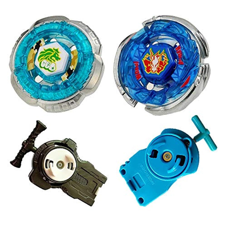 フュージョン マテル ブレード バトル トップ ジャイロ スピニング トイ ビートイ BB28 ストーム ペガサス & BB30 ロック レオーネ ランチャー パワーブースター2個付き