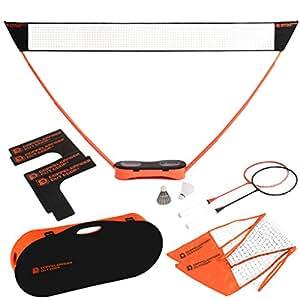 DOPPELGANGER OUTDOOR ポータブルバドミントンネット テニス用ネット付属