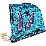 OULIIスパンコール帽子パーティーアクセサリーキャップハロウィンクリスマスパーティーSupplies (ブルーパープル)