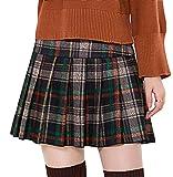(リグリ) LIGLI スカート ミニ チェック プリーツ 学生 制服 風 収納袋セット オレンジ XL