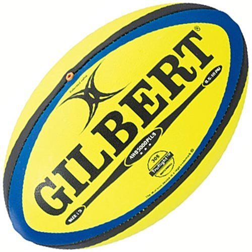 ギルバート(GILBERT) ラグビーボール AWB-5000PLUS 5号 GB9185 蛍光イエロー