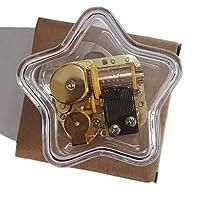 クリエイティブWind - Upアクリルプラスチック透明音楽ボックスwithメッキ。動きで、様々な形状ミュージカルボックス、LiliumからElfen Lied Five-pointed Star Transprent
