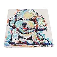 "Sperrins かわいいペット子犬パターン綿ポリエステル投球枕カバー車のソファクッションカバー18""x 18""写真の色"