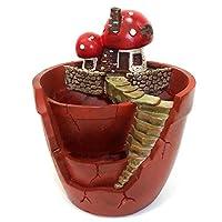 WAIWAIGOODS デコレーション プランター 室内 用 フラワー ポット ファンタジー 植木鉢 (キノコ)