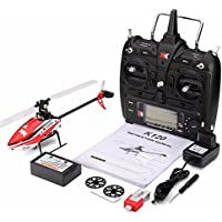 BEESCLOVER ヘリコプター おもちゃ XK K120 シャトル 6CH ブラシレス 3D 6G システム RC ヘリコプター RTF / BNF RTF