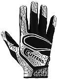 Cutters アメリカンフットボール用手袋 ベストなグリップのフットボールグローブ 軽量で柔らか ユース&大人サイズ 1ペア ADULT: Medium
