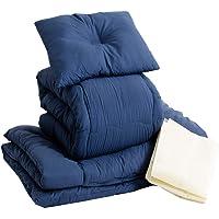 アイリスプラザ 布団 セット 洗えて清潔 抗菌 防臭 防カビ 夏の寝汗対策に 固綿使用 敷き布団 放湿性 蒸れにくい ホ…