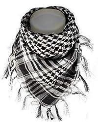Dhana Style アフガンストール アラブストール チェック柄マフラー スカーフ (ブラック&ホワイト)