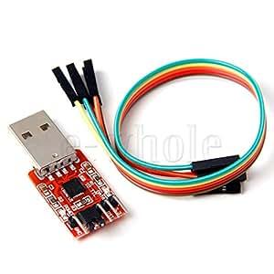 USB2.0 TO TTL 6ピン シリアル·コンバータ UART モジュール CP2102 STC 6ピンケーブル