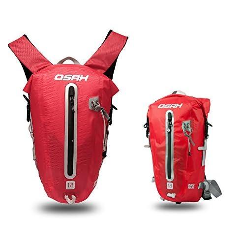 CYCLINGNET 防水(IPX6)パック DRY PAK バックパック ロードバイク 自転車 サイクリング用 (B14602-18L-RED)