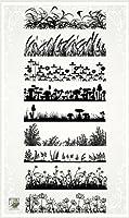 Grass Borders FLONZ Clear Stamp Sheet