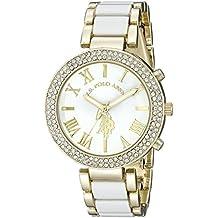U.S. Polo Assn. Women's USC40065 Gold-Tone and White Bracelet Watch